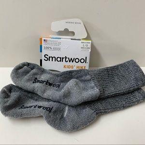 Smartwool wool blend hiking socks gray kids size L
